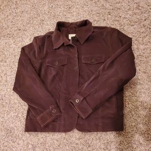 LL Bean Velour Jacket